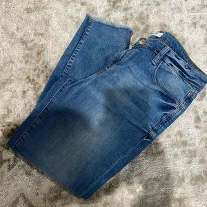Cropped Split hem skinny jeans